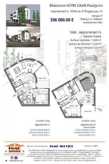Appartement Perpignan Perpignan,  Neuf appartement  4 pièces   112m²
