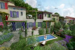 Vente maison de village Gassin esquisse villa 3 - 4 - 5-1
