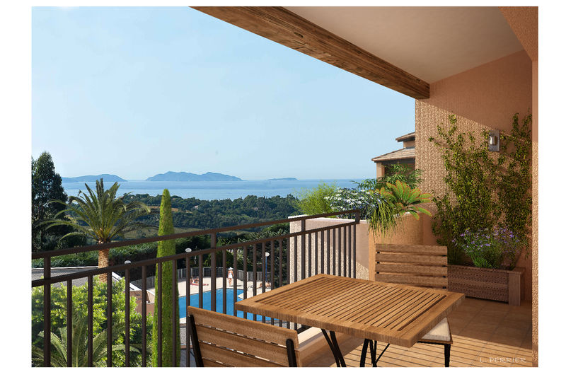 Vente appartement La Croix-Valmer  Apartment La Croix-Valmer Golfe de st tropez,   to buy apartment  3 rooms   53m²