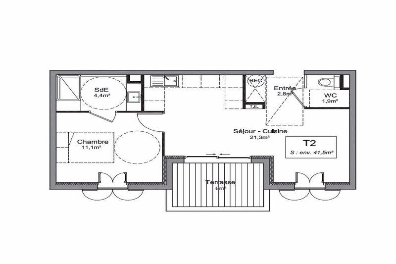 Photo n°2 - Vente appartement Le Plan-de-la-Tour 83120 - 178 000 €