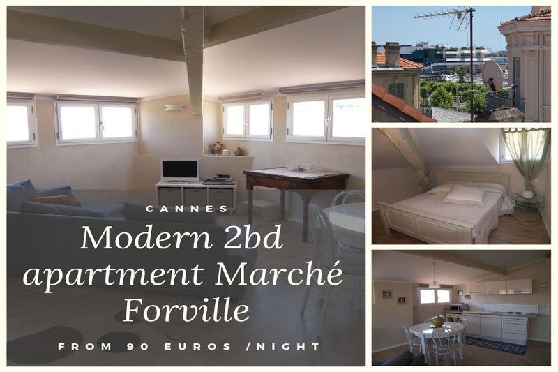 Appartement Cannes Forville,  Location saisonnière appartement  3 pièces   55m²