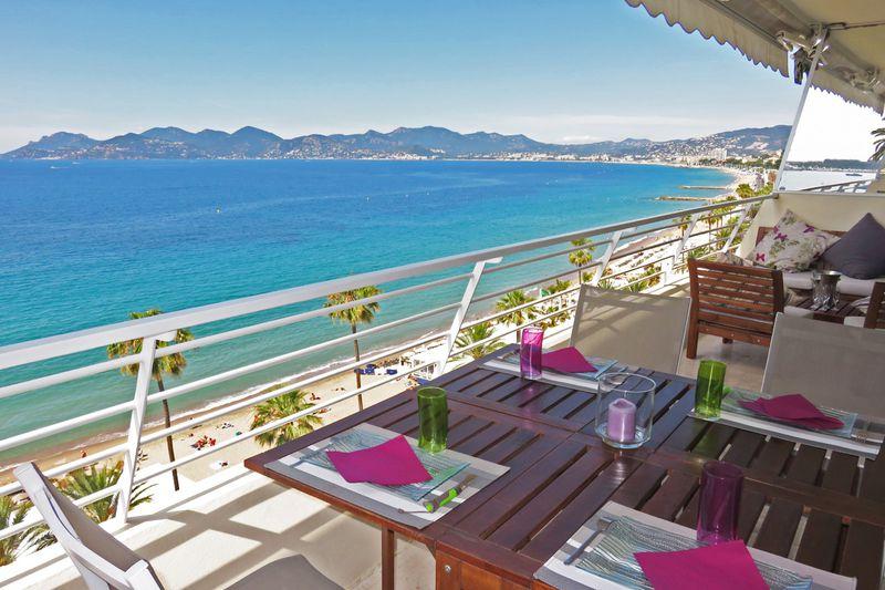 Appartement Cannes Stanislas-suquet-forville,  Location saisonnière appartement  4 pièces   110m²