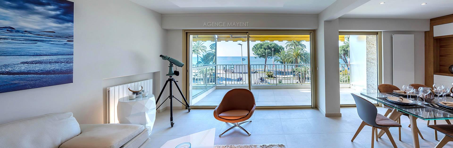 Vente appartement vue mer Cannes