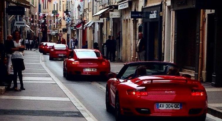 Photos PARADIS PORSCHE à Saint-Tropez.