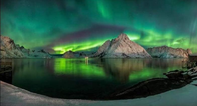 Notre logo symboliset les aurores boréales scandinaves