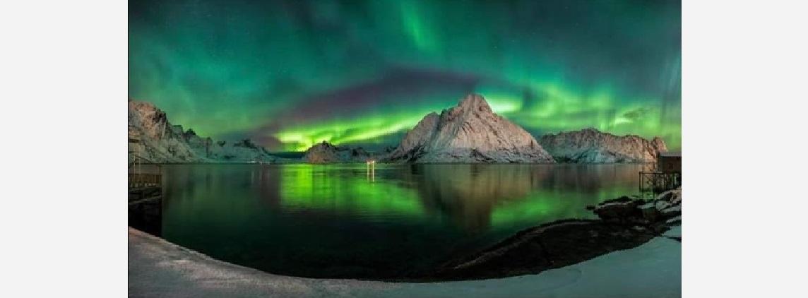 Notre logo symbolise les aurores boréales scandinaves