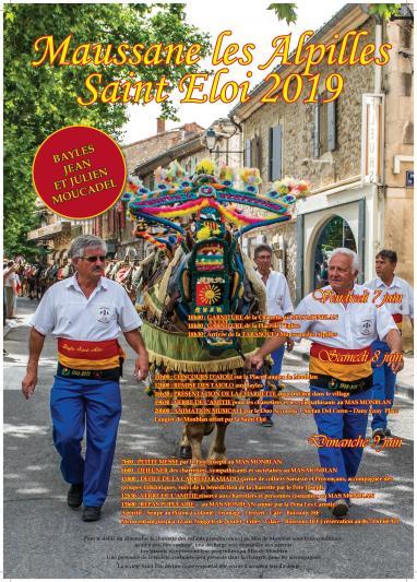 Photos ST ELOI - MAUSSANE LES ALPILLES Dimanche 9 juin 2019 // du 7 au 9 juin Fête de la Saint Eloi « Carreto Ramado » Tradition Sud Immobilière www.traditionsud.fr