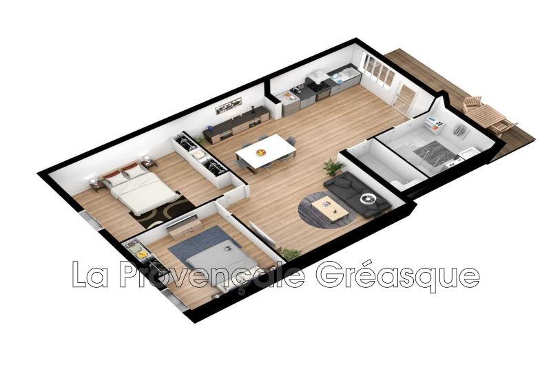 appartement  3 pièces  Gréasque Village  65m² -