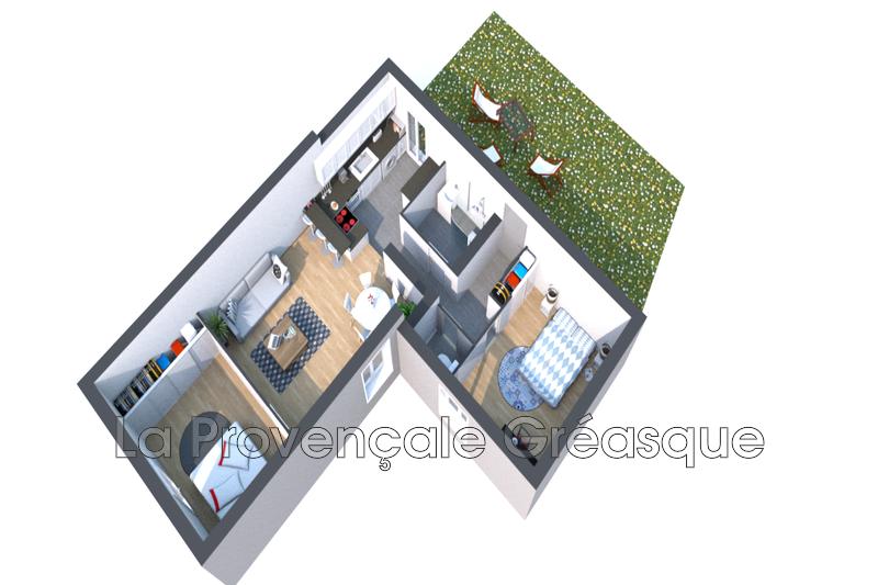 appartement  3 pièces  Gréasque Village  59m² -