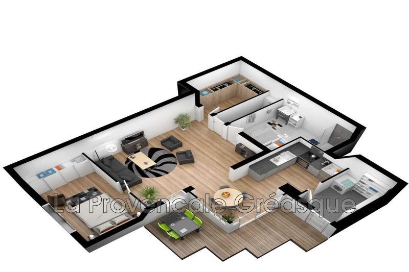 appartement  2 pièces  Gréasque Village  61m² -