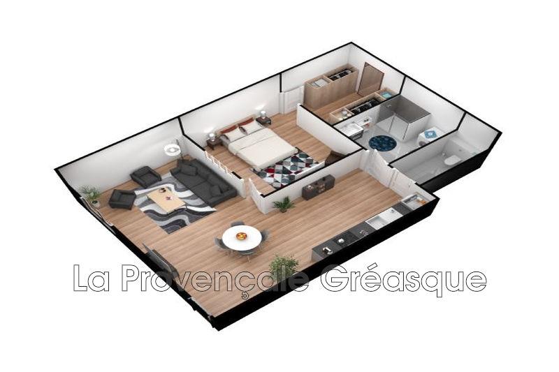 appartement  2 pièces  Gréasque Village  58m² -