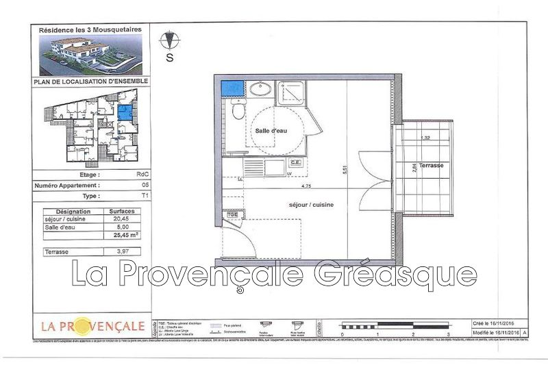 Photo n°2 - Vente appartement Gréasque 13850 - 131 000 €