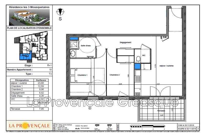 Photo n°2 - Vente appartement Gréasque 13850 - 247 500 €