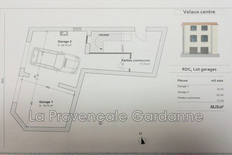appartement  6 pièces  Velaux   120m² -