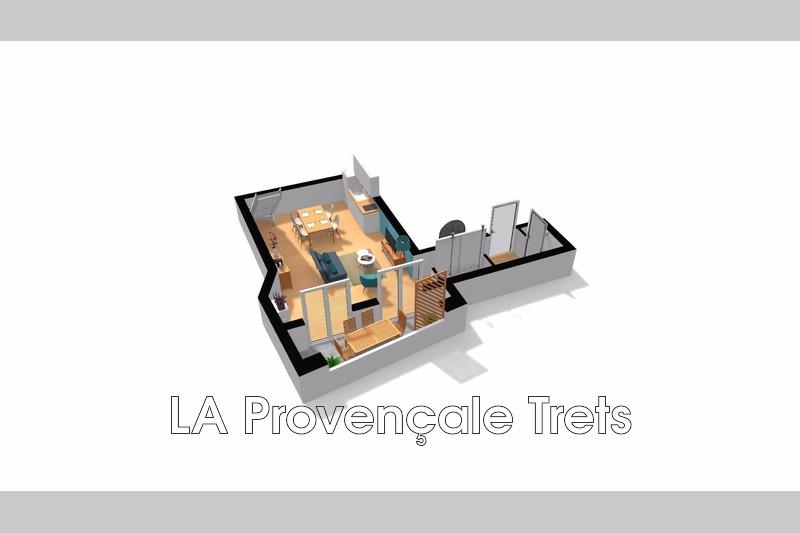 appartement  3 pièces  Pourrières   63m² -