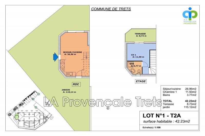 maison  2 pièces  Trets Village  42m² -