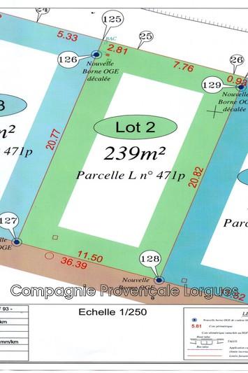 Photo n°2 - Vente terrain à bâtir Lorgues 83510 - 110 000 €