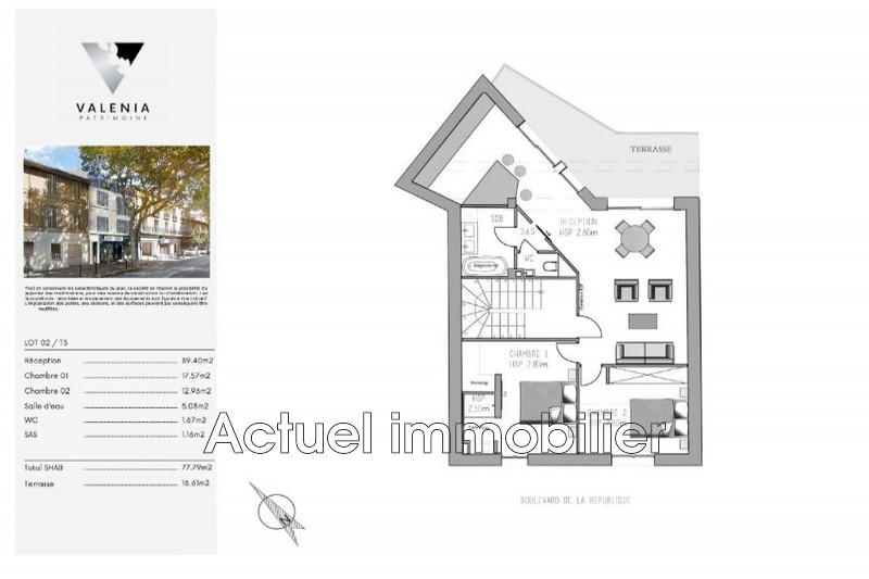 Vente appartement Aix-en-Provence Plans de vente Le Trianon 2_0