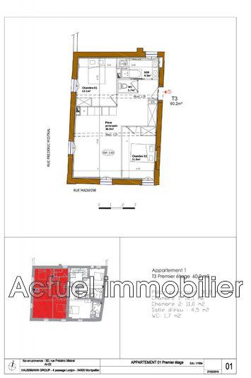 Vente appartement Aix-en-Provence __Pc3_architecture 03_13-Aix en Provenc...Plan de vente DESSIN Plan vente 01 (1)