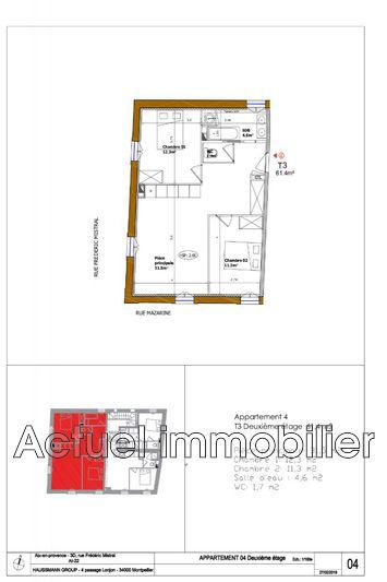 Vente appartement Aix-en-Provence __Pc3_architecture 03_13-Aix en Provenc...Plan de vente DESSIN Plan vente 04 (1)
