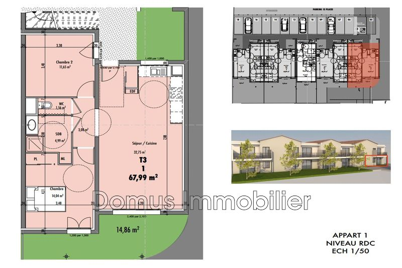 Photo Appartement Vedène Proche village,  Neuf appartement  3 pièces   67m²