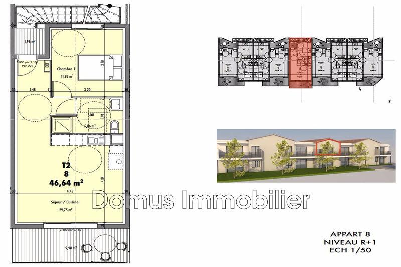 Photo Appartement Vedène Proche village,   achat appartement  2 pièces   46m²