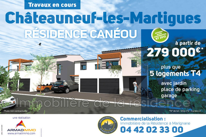 Photo Villa Châteauneuf-les-Martigues Centre ville,  Neuf villa  3 chambres   72m²