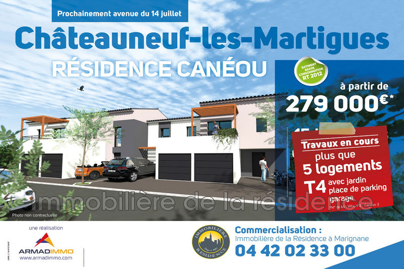 Photo Villa Châteauneuf-les-Martigues Centre ville,  New villa  3 bedrooms   72 m²