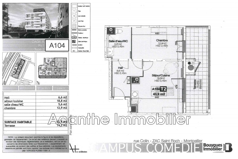 Photo Apartment Montpellier Gare,   to buy apartment  2 room   43m²