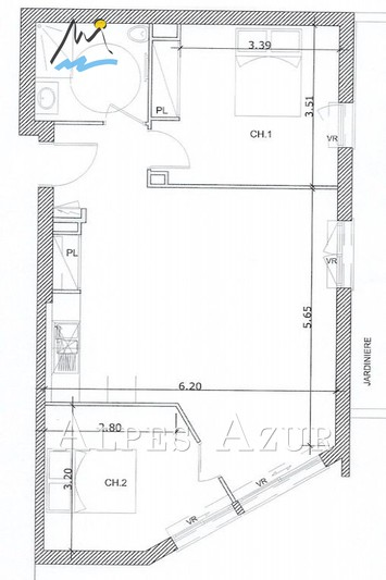 Photo n°2 - Vente Appartement rez-de-jardin Saint-Laurent-du-Var 06700 - 368 000 €
