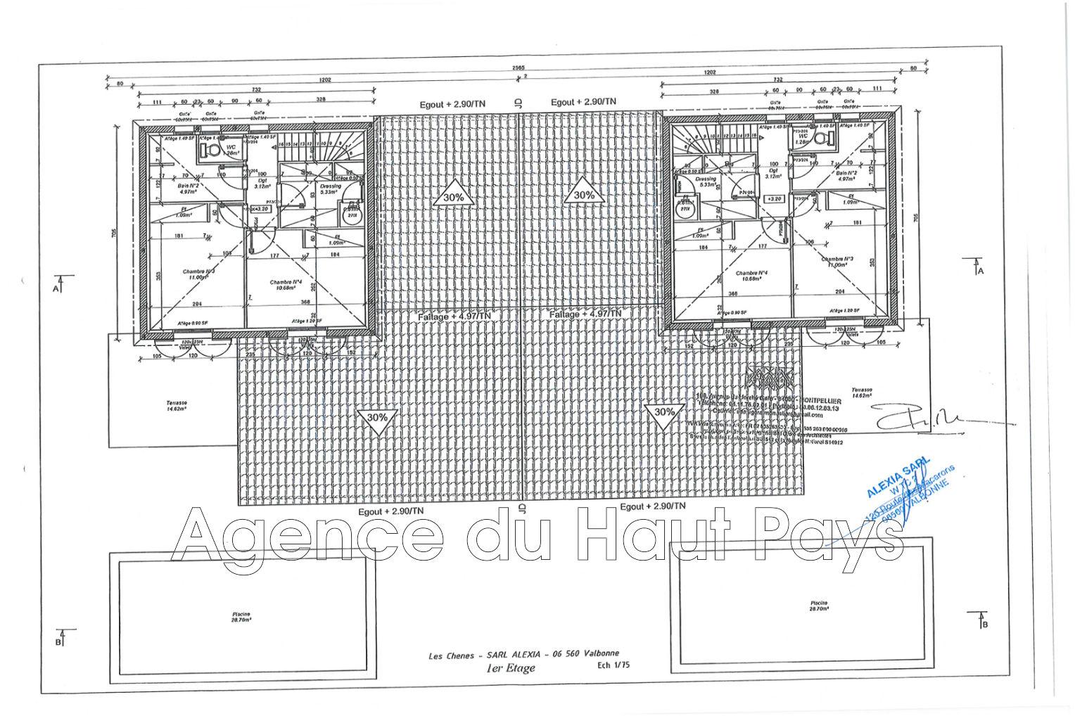 Villa saint c zaire sur siagne r sidentiel achat villa 4 chambres 119 m - Chambre d hote saint cezaire sur siagne ...