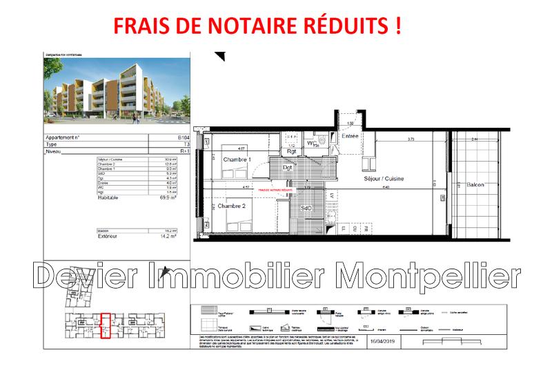 Appartement Saint-Jean-de-Védas Saint jean de vedas,   achat appartement  3 pièces   70m²