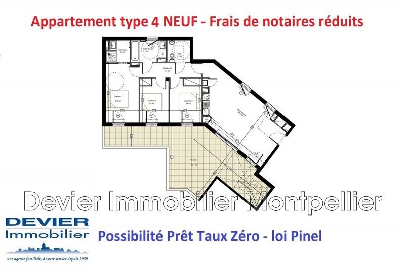 Appartement Saint-Jean-de-Védas Saint jean de védas,   achat appartement  4 pièces   83m²
