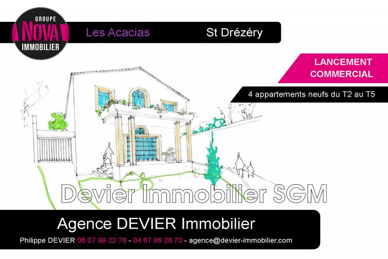 Appartement Saint-Drézéry   achat appartement  2 pièces   49m²