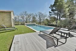 Location saisonnière maison Gordes piscine transat