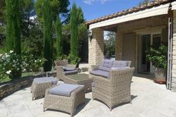Location saisonnière villa provençale Ménerbes terrasse