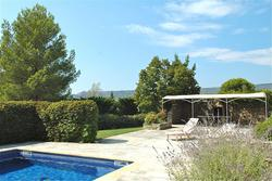 Vente maison en pierre sèche Gordes 2068 vue-terrasse-piscine