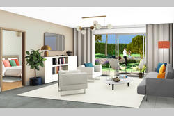 Vente villa Sainte-Maxime perspective intérieure