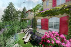 Vente maison de village Gassin esquisse villa 1 - 2-1