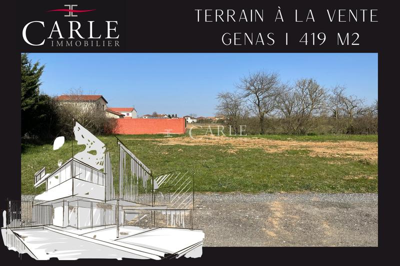 Vente terrain Genas  Terrain Genas Azieu,   achat terrain   419m²