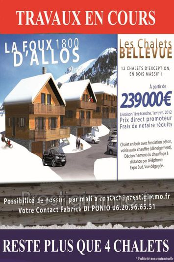 Chalet Allos Labrau,  New chalet  4 bedroom   110 m²