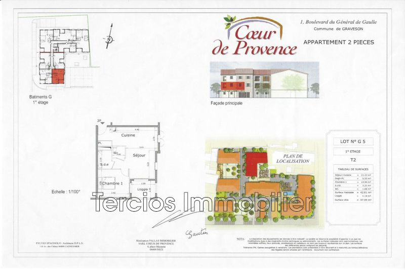 Apartment Graveson Centre-ville,   to buy apartment  2 rooms   45 m²