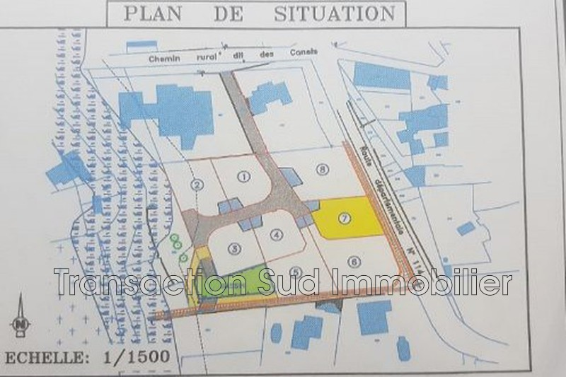 Photo Land Collorgues Village,   to buy land   479 m²