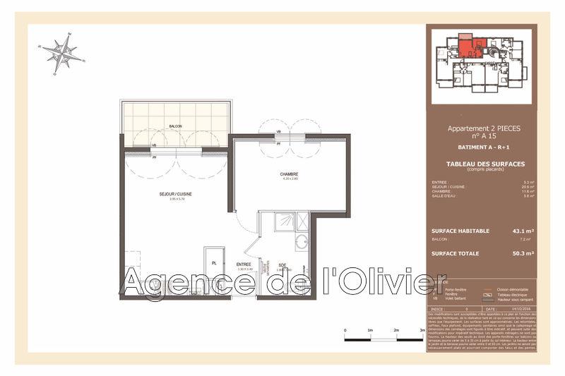 Photo n°4 - Vente appartement Valbonne 06560 - 270 000 €