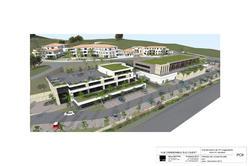 Vente terrain à bâtir Sainte-Maxime Photo perspectif commerces
