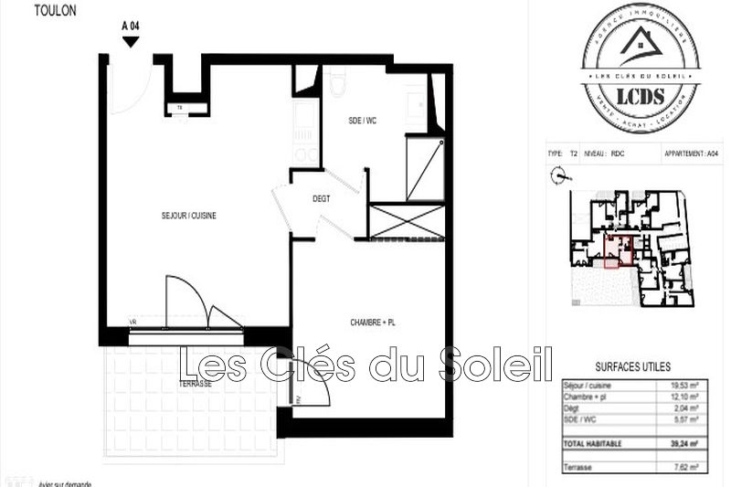 Photo n°3 - Vente appartement Toulon 83000 - 169 000 €