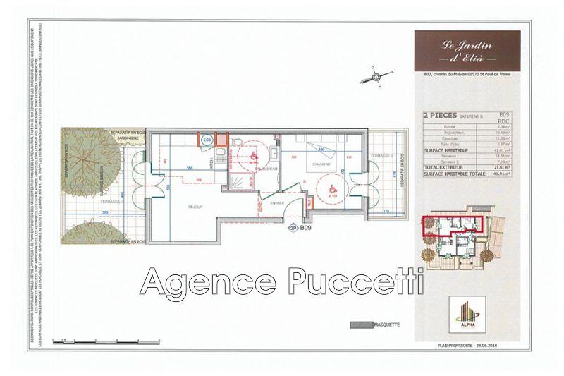 Photo n°2 - Vente appartement Saint-Paul-de-Vence 06570 - 255 500 €