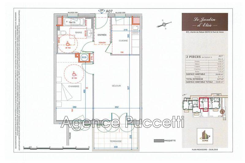 Photo n°2 - Vente appartement Saint-Paul-de-Vence 06570 - 265 000 €