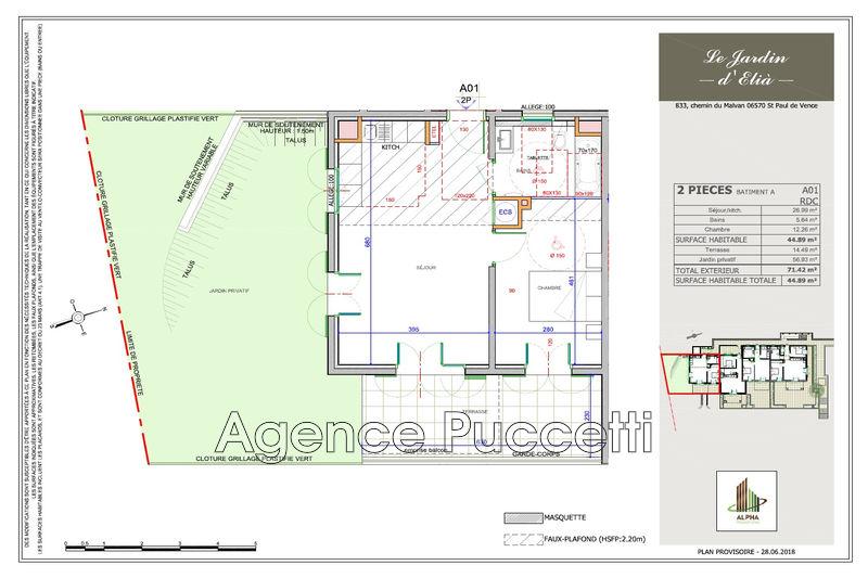 Photo n°2 - Vente appartement Saint-Paul-de-Vence 06570 - 277 000 €