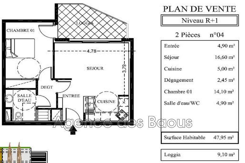 Photo n°3 - Vente appartement Vence 06140 - 225 000 €